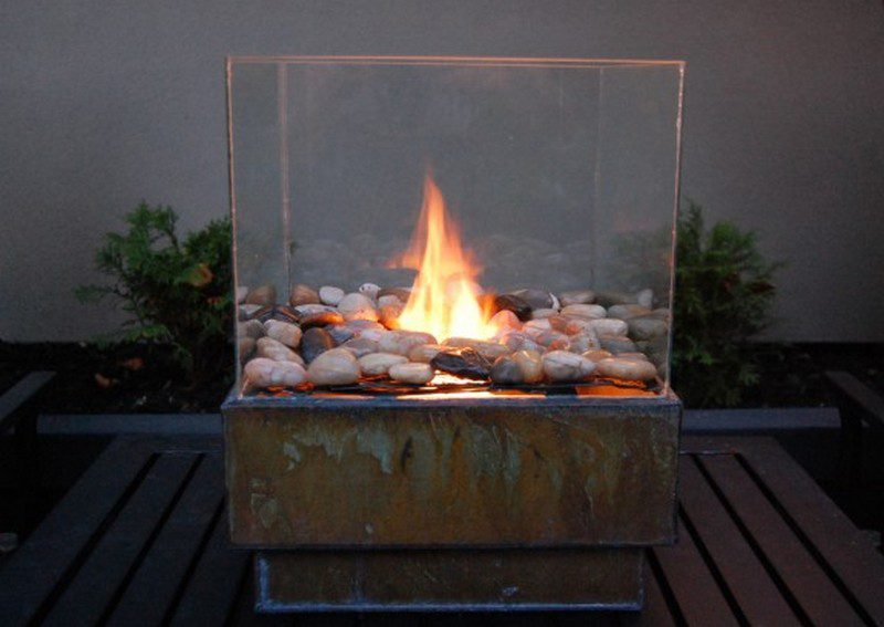 Fireplaces and fire pits the owner builder network - Chimenea de alcohol ...