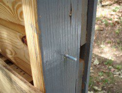 DIY Pallet Chicken Coop - Access Door