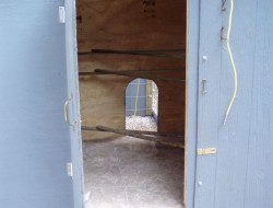 DIY Pallet Chicken Coop - Access Door Open