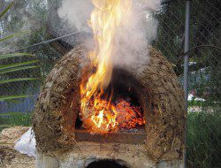 DIY Cob Oven - Burning