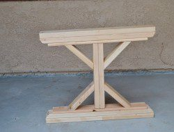 DIY Farm Table with Beer/Wine Coolers - Assembling the table