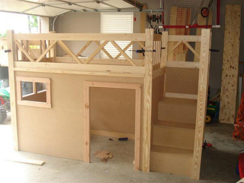 DIY Fire Truck Bunk Bed - Building the stairs