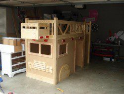 DIY Fire Truck Bunk Bed - Metal screen for the grill