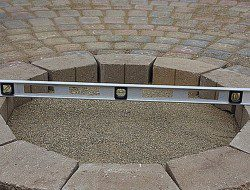 DIY Patio with Fire Pit - Outdoor Fire Pit Leveling