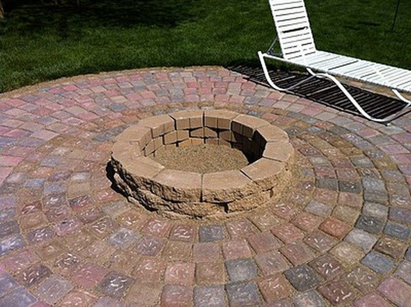 DIY Patio with Fire Pit - Finished Fire Pit