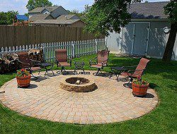 DIY Patio with Fire Pit - Finished Patio with Fire Pit