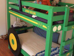DIY Tractor Bunk Bed - Finished Tractor Bunk Bed View