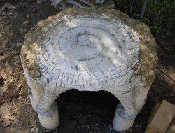 DIY Cob Oven - Ferro-cement table, curing