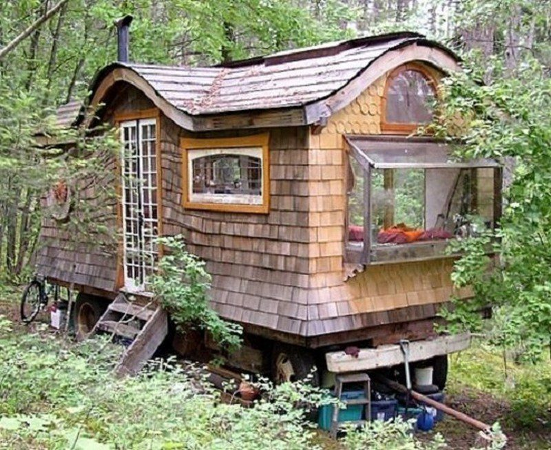Gypsy Wagon In The Woods - Home on wheels