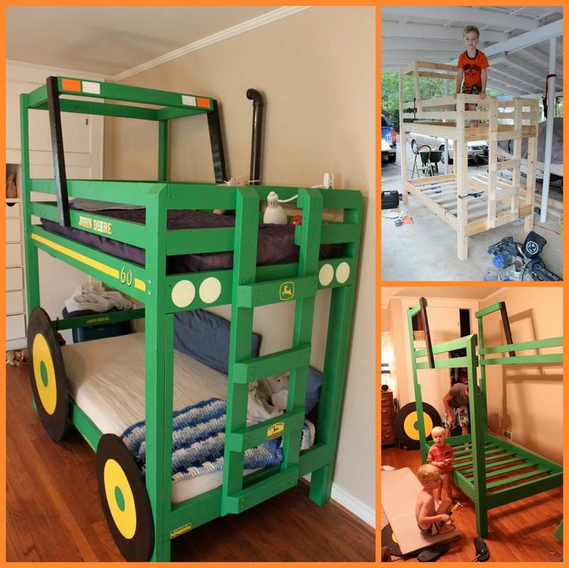 Build your kids a tractor bunk bed