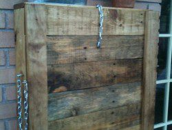 Pallet Fold Down Outdoor Bar - Closed View
