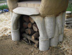 DIY Cob Oven - Wood store and ferro-cement work