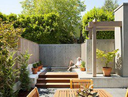 Modern courtyard with plunge pool.