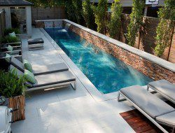 Small Backyard With A Modern Swimming Pool - Simple Form