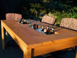 DIY Patio Table with Built-in Beer/Wine Coolers - The Owner-Builder Network