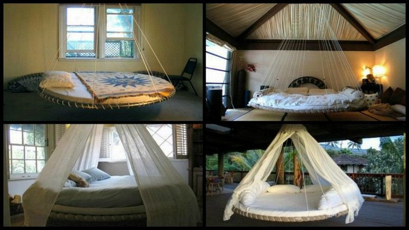 Swing Bed Made From Recycled Trampoline