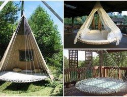 Turn Your Broken Trampoline Into A Circular Swing Bed!
