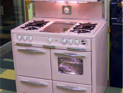 1950 Wedgewood in a happy, post-WWII pink - soulful abode