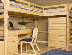 Bunk Beds with Desk Plans - West and Clear