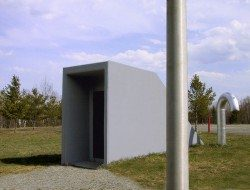 The entry to this home in an ICBM Missile Silo