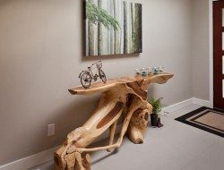 How about this log hall table?