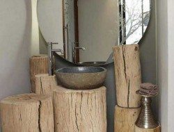 Or as a log bathroom to impress yourself every time you clean your teeth!