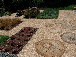 These log pavers by Keith Willig Landscape Services, Inc. look great!