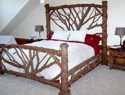 Warm Inviting Log Beds