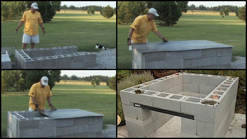 Build a Cinder Block Pit Smoker For $250