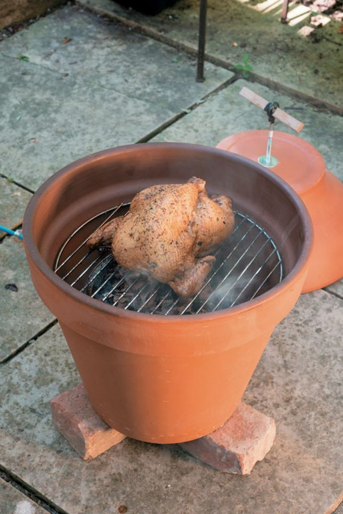 Build your own clay pot smoker