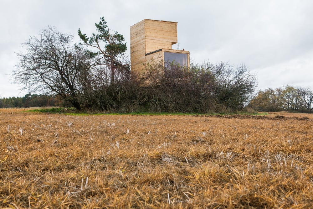 The Cabin sits on top of a concrete bunker - a relic from the World War II.