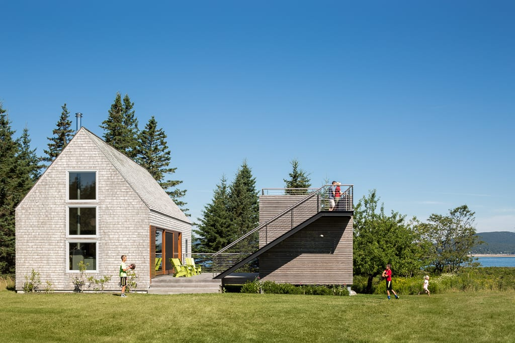 The design reflects the modern version of a New England farmhouse.