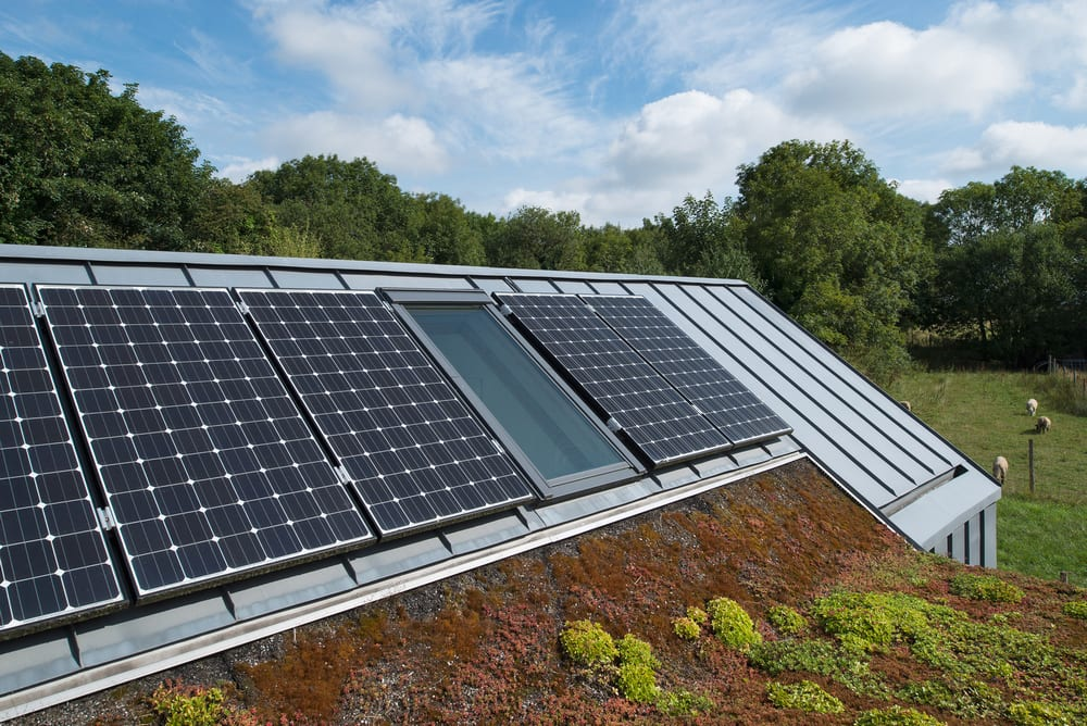 Solar arrays installed on the roof helps keep energy cost down.