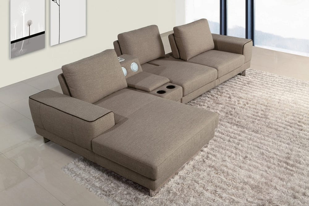 In large, open spaces, you might want to consider a free-floating sectional to create a welcoming seating area.