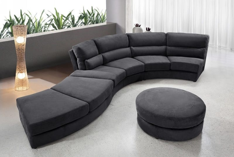 Not all sectionals are L-shaped. Some are much more sculptural.