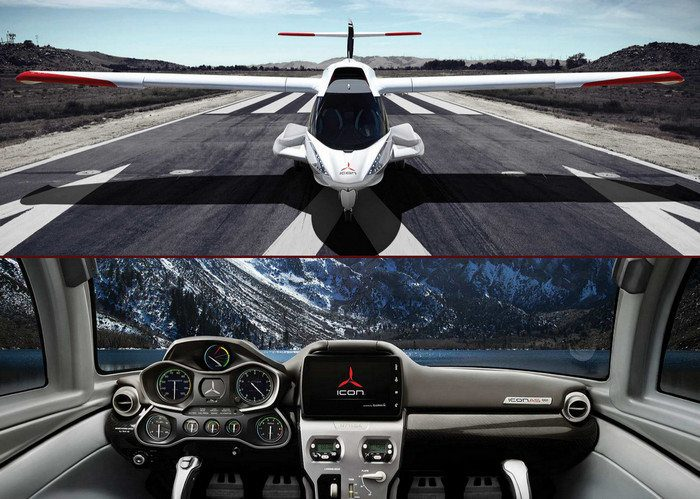 The Icon A5 has moved from production to delivery phase