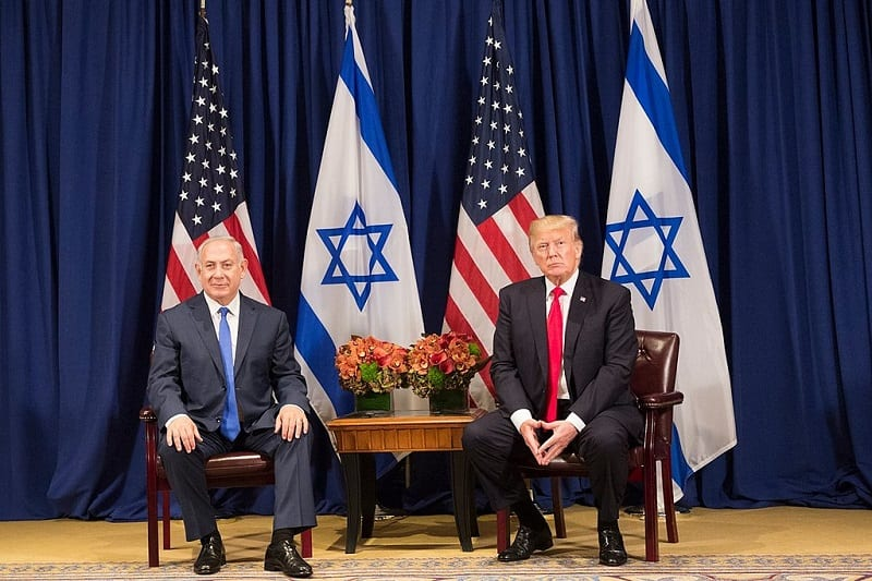 """Trump claims that his peace plan is a """"realistic two-state solution."""" Some question to which two states the US president refers."""