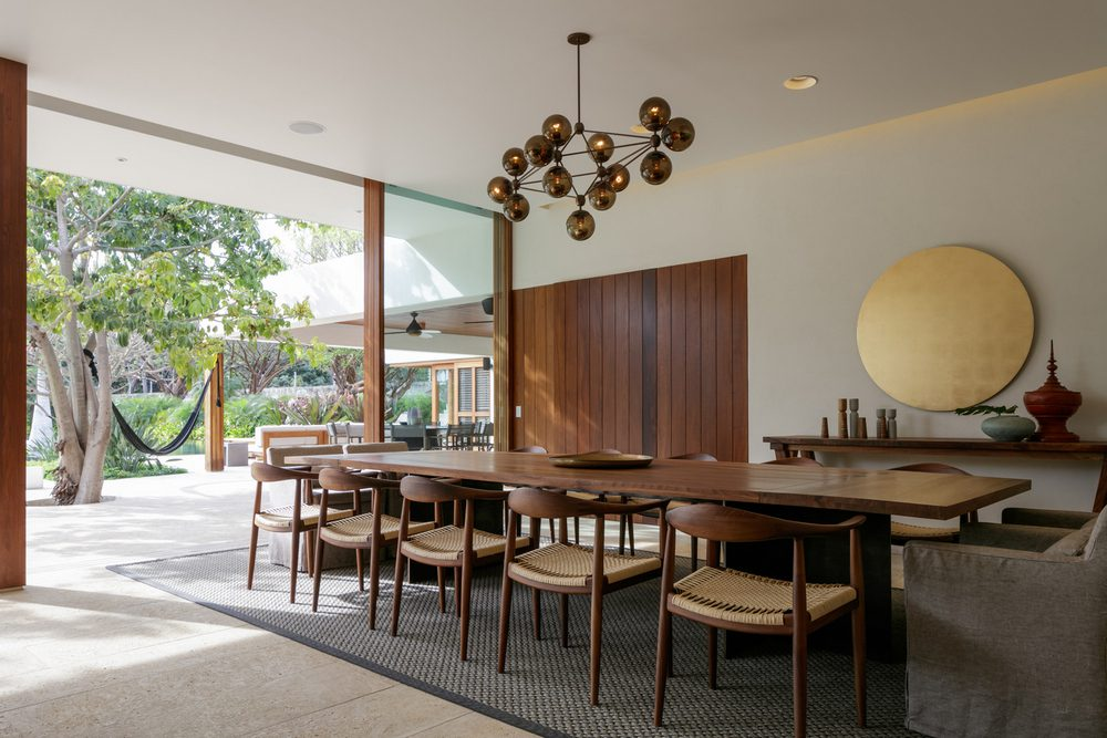 Pared-down interiors allow the outdoors to be the focal point of attention.